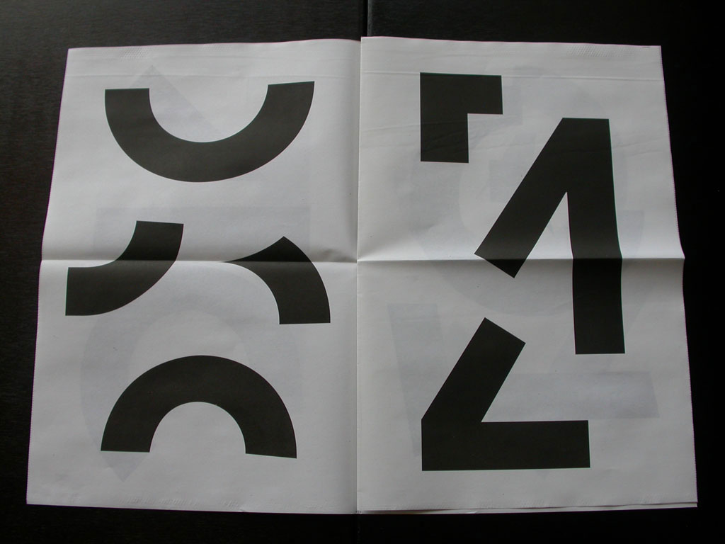 Claude Closky, 'Repartir à zéro [starting from scratch]', 2009, Marseille: ULS, 12 pages, 44 x 30 cm.
